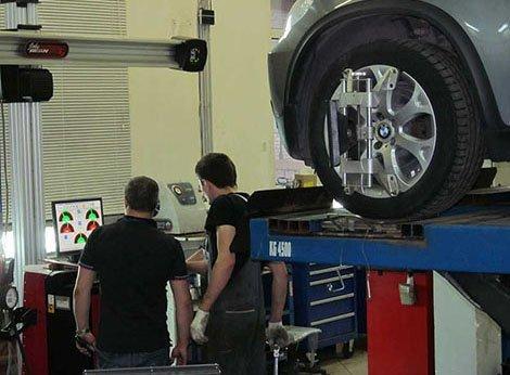 BMW Сход развал 3D