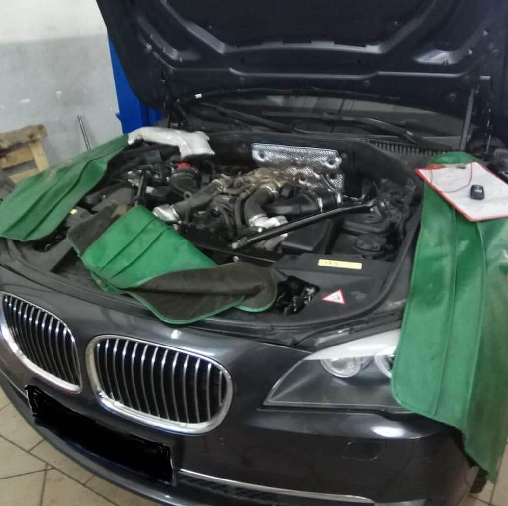 неровная работа двигателя N63