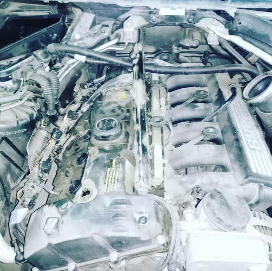 закоксованный двигатель БМВ