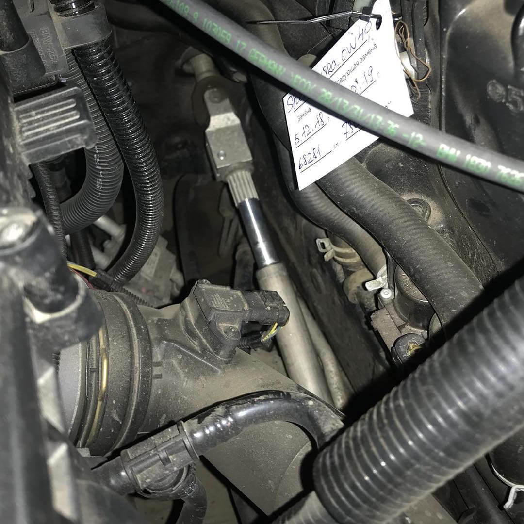 износ в карданной передаче BMW 740 F02