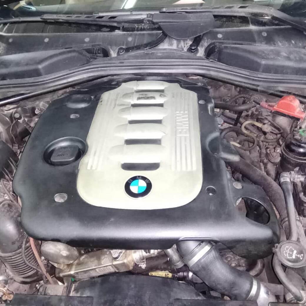 ремонт радиатора охлаждения наддувочного воздуха у BMW 635 D в кузове Е63