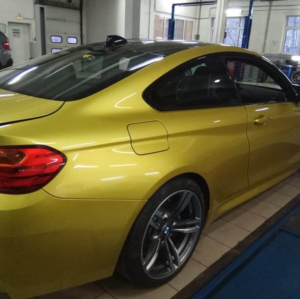 BMW M4 в кузове F32 после ДТП