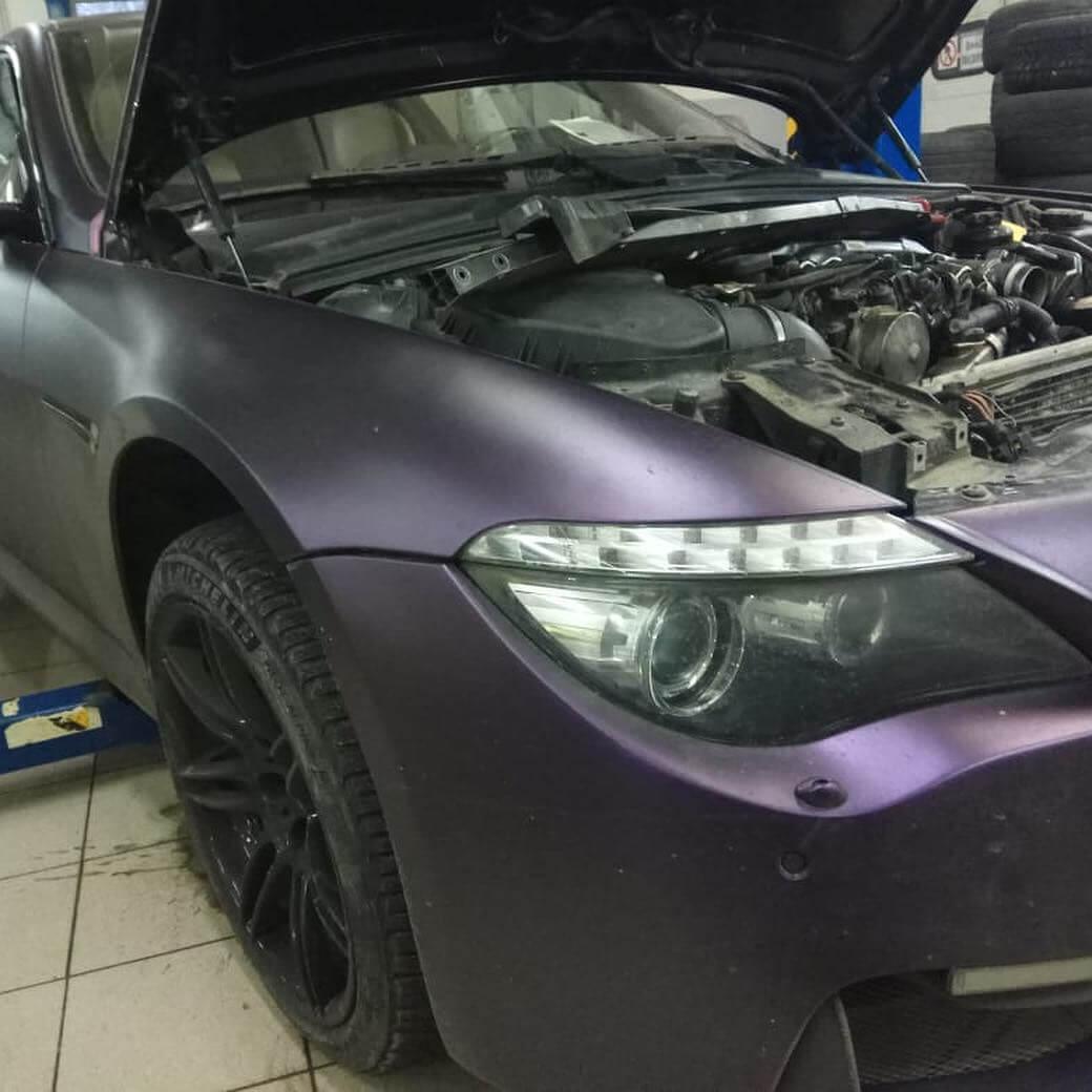 замена уплотнительного кольца патрубков интеркуллера на BMW 635 D в кузове Е63