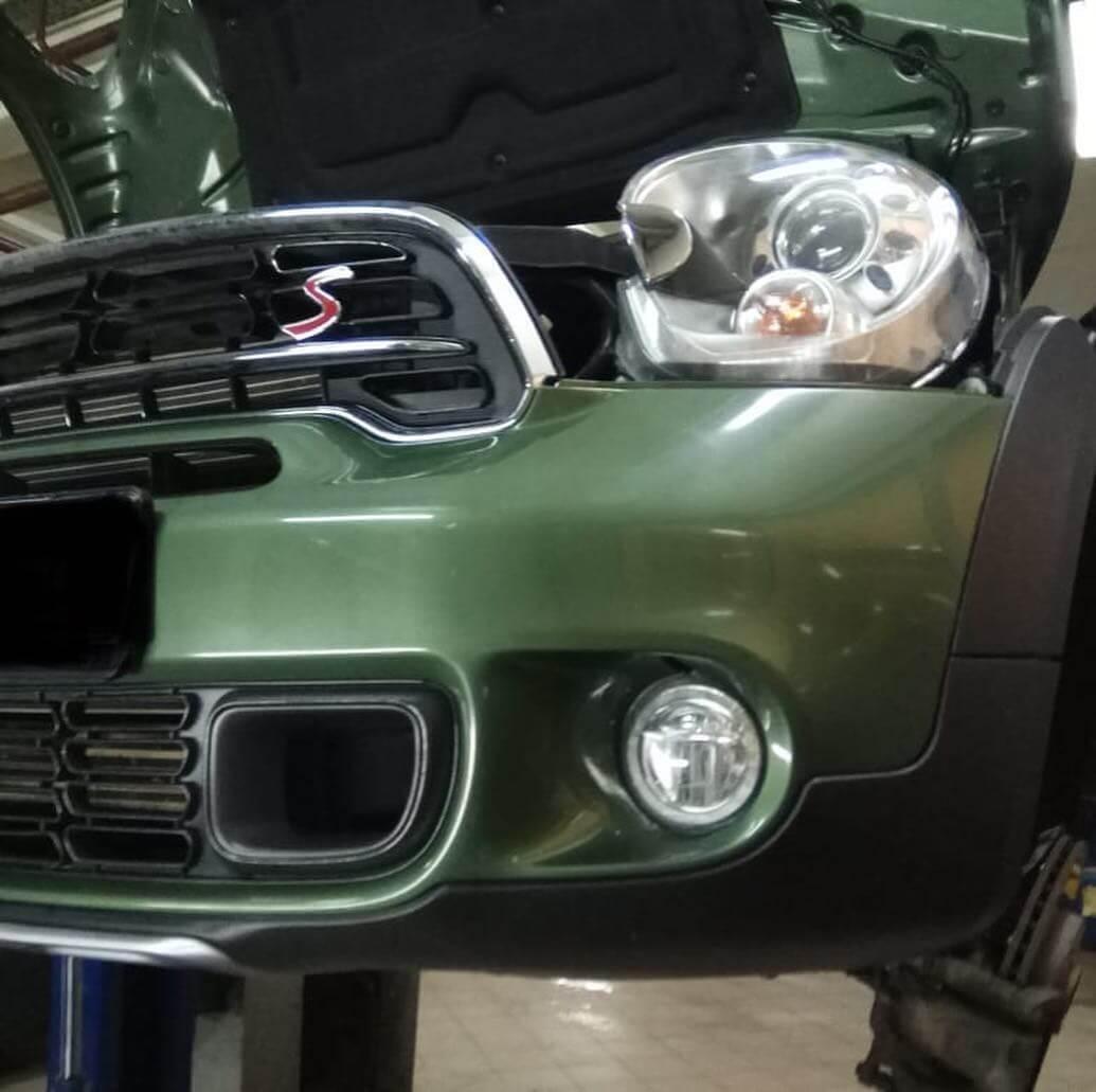 устранение деформации кузовных элементов на BMW MINI