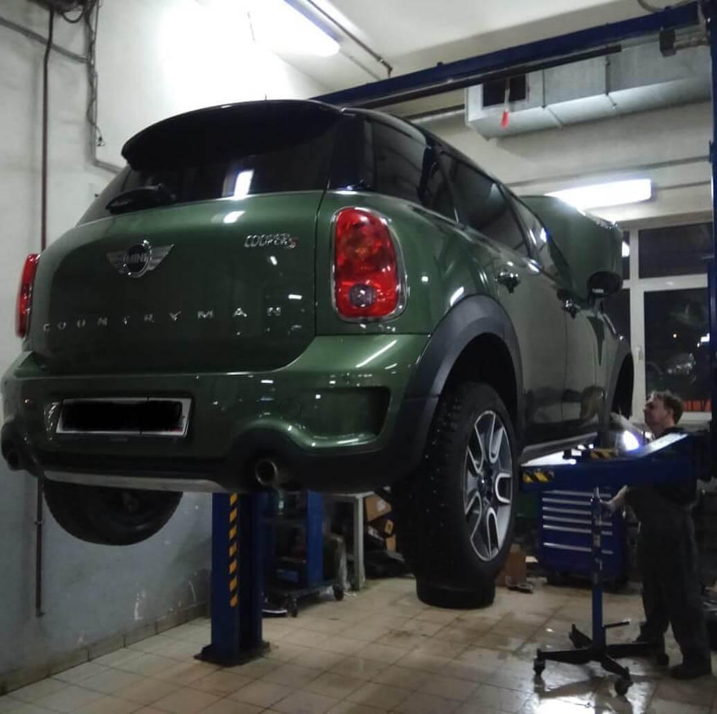 неисправные детали были заменены согласно технологии ремонта BMW MINI