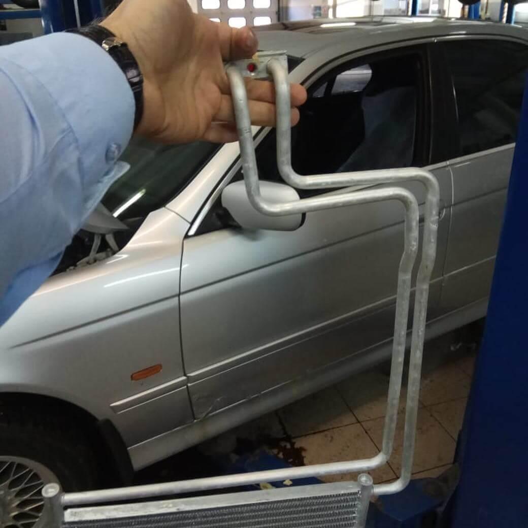 замена радиатора АКПП по технологии BMW