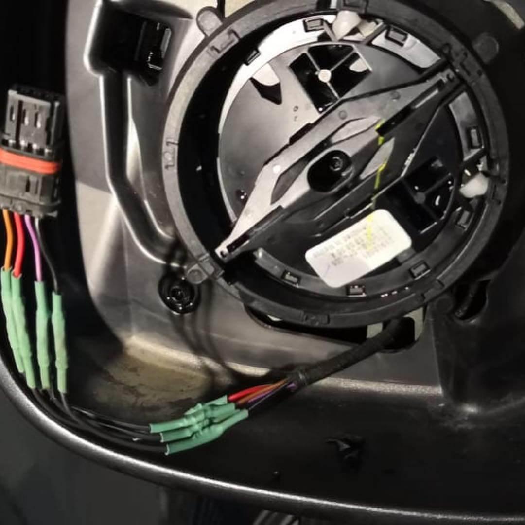 механизм регулировки зеркала восстановлен