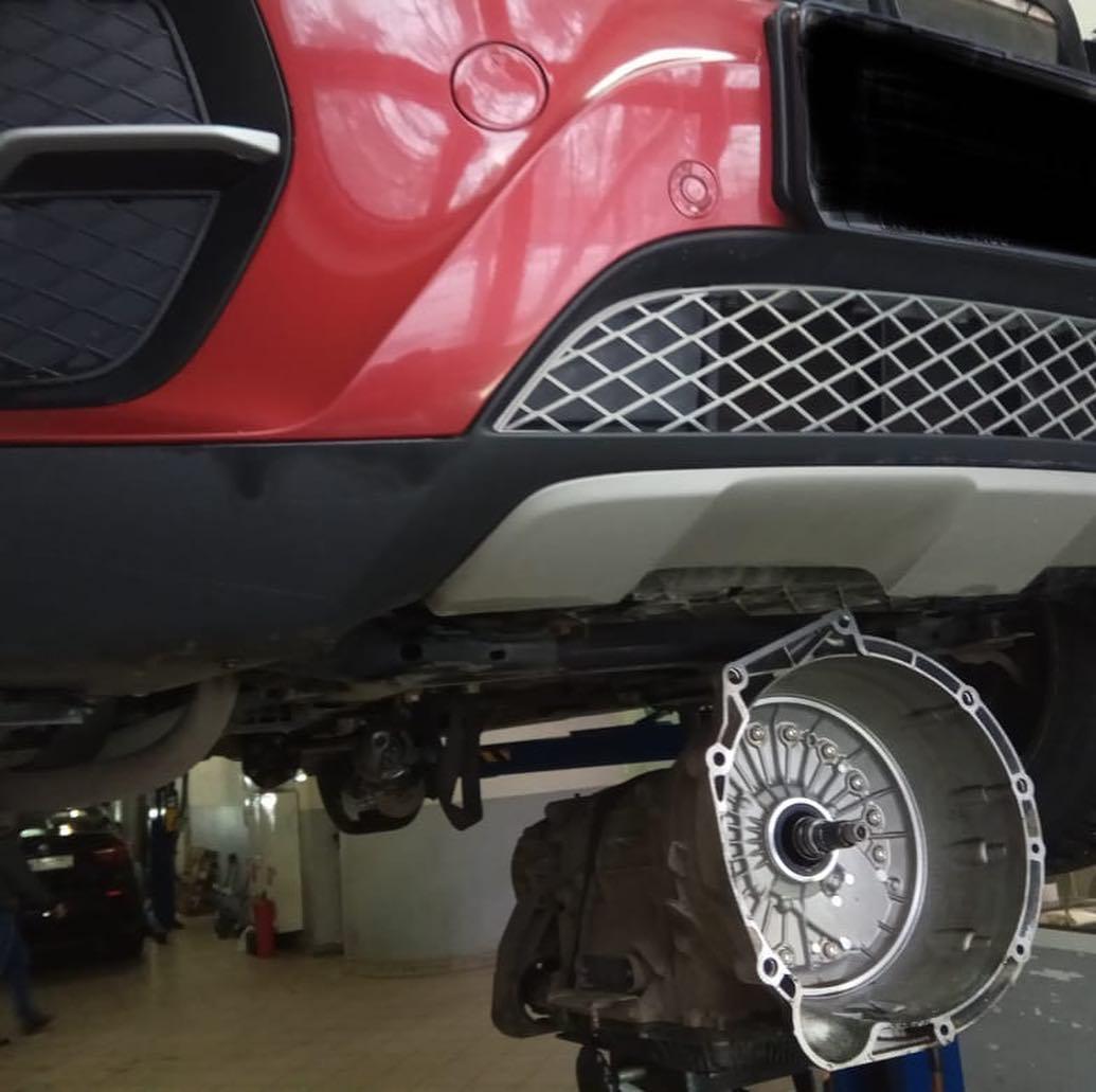 Течь масла бмв X6 на стыке АКПП и двигателя