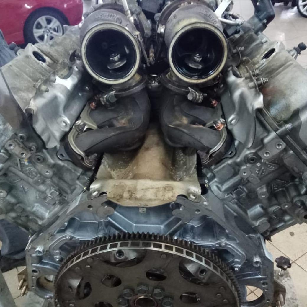 Чистка мотора N63 на BMW X6