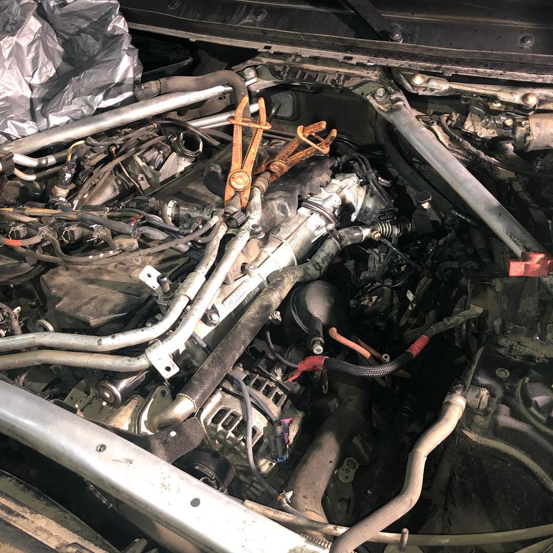 Чистка впускного коллектора на BMW