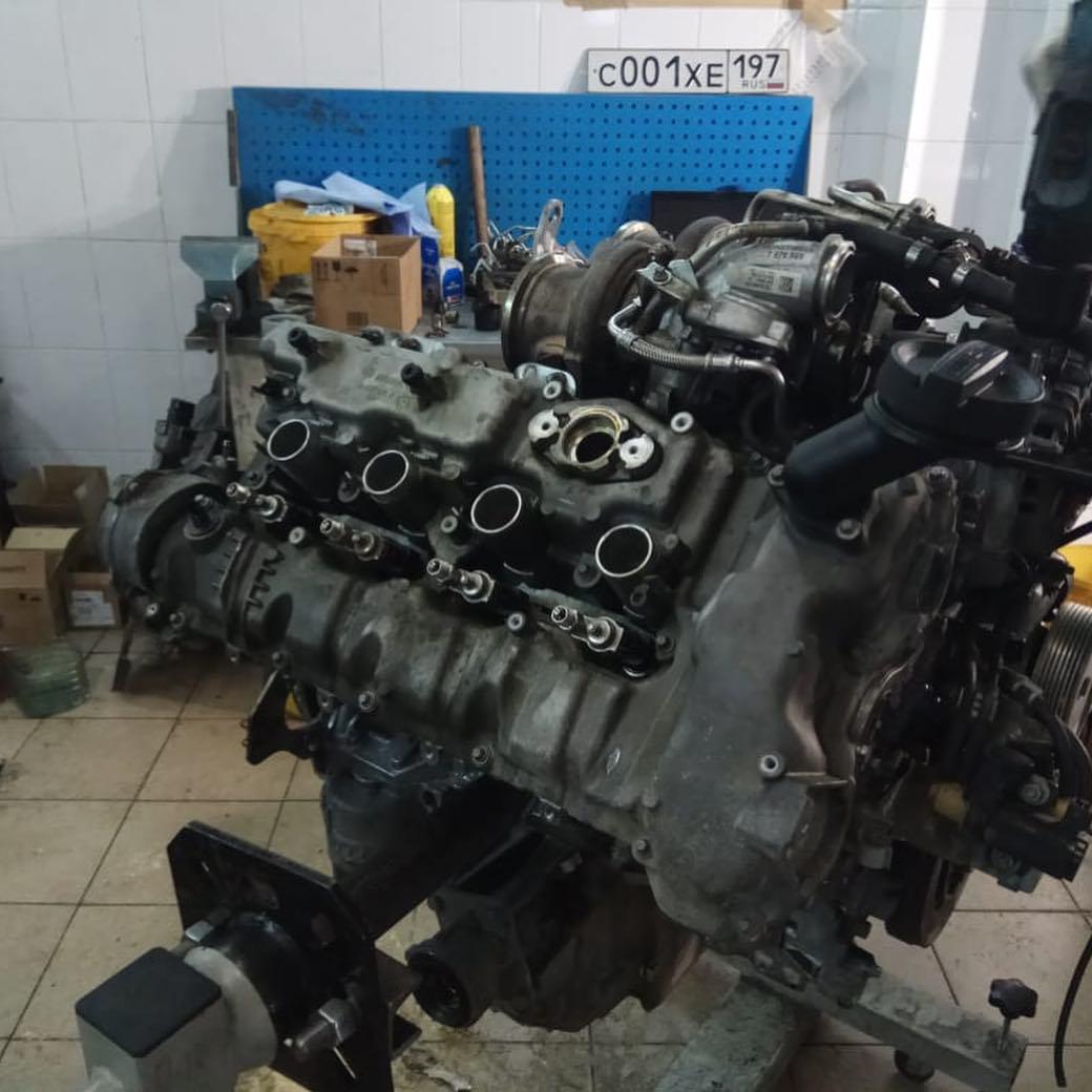 устранение течи масла на моторе N63