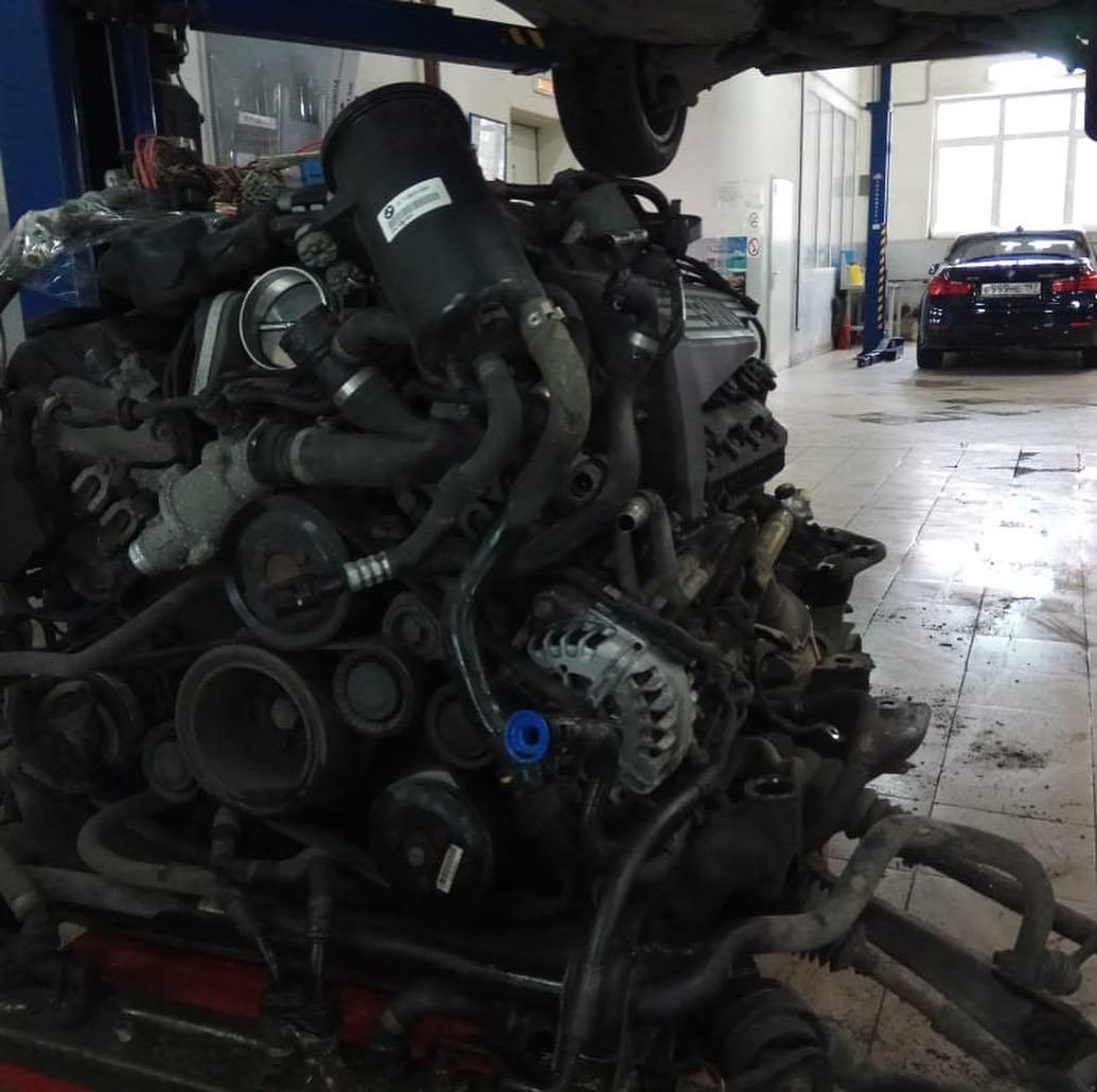 Демонтаж мотора N62TU