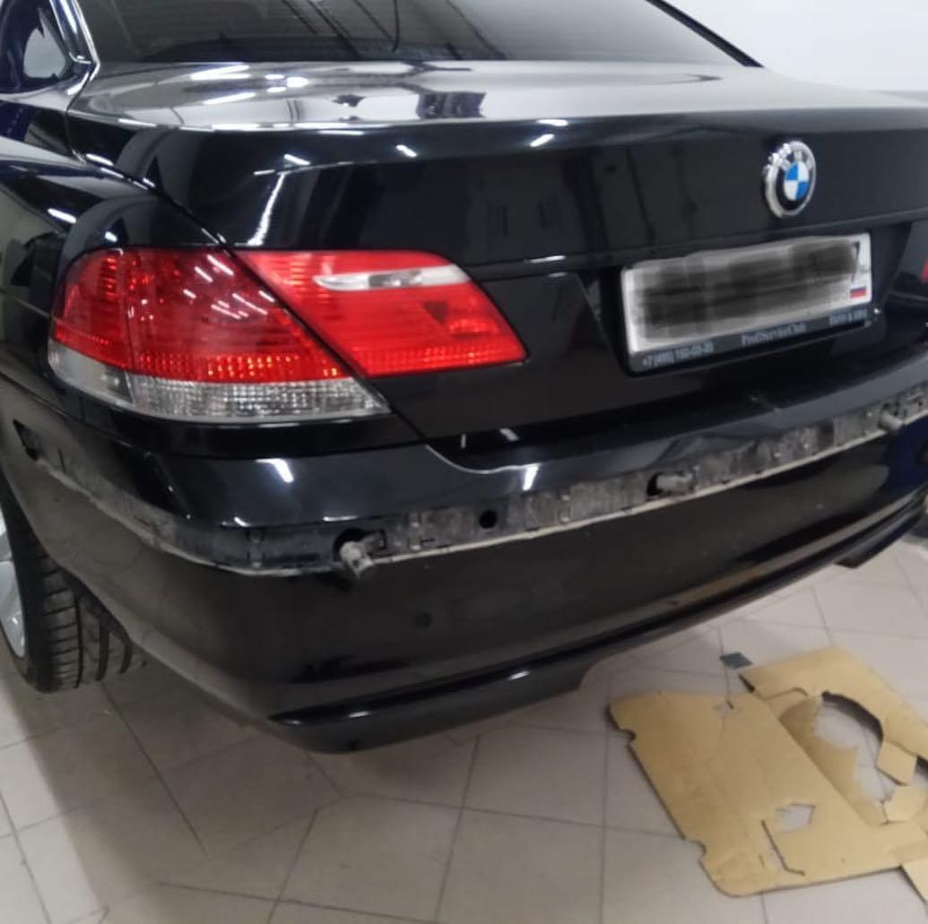 Покраска молдингов на BMW 740 e66