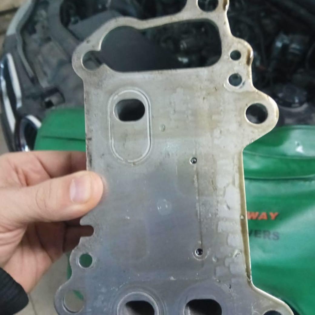 Промывка защиты двигателя M57 от масла