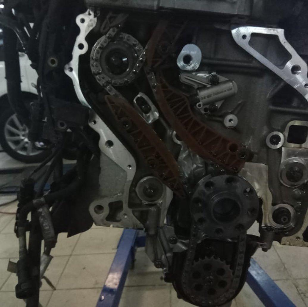 Демонтаж мотора N47 на БМВ Х3