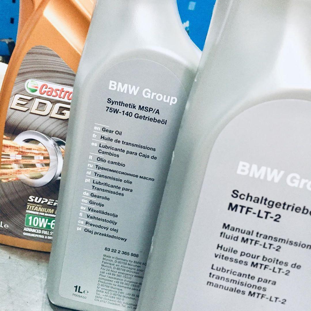 Замена масла в двигателе в БМВ М5